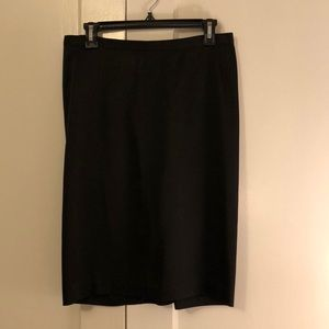 BCBG fitted pencil skirt with ruched back